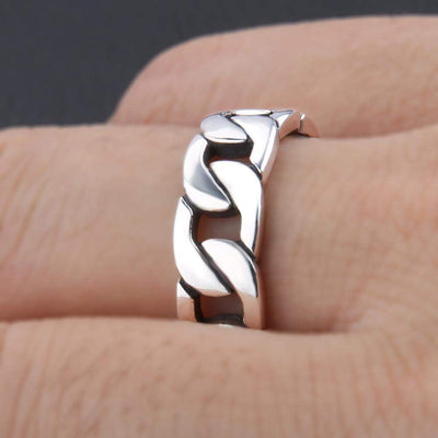 Chain Sterling Rings
