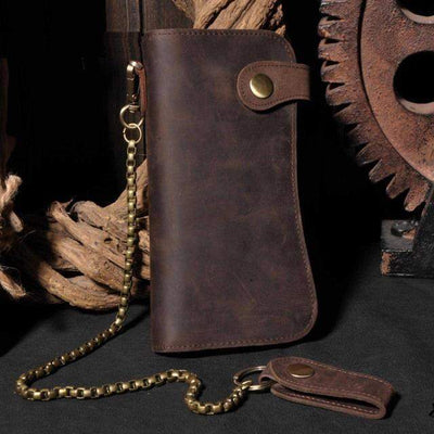 Classic Biker-Biker Wallets-Brown-Rear Tone
