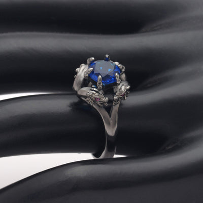 Dragon Set-Ladies Sull Engagement Ring-Rear Tone