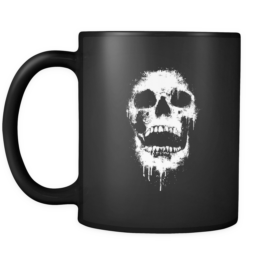 11 Oz Dripping Skull Coffe Mug