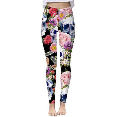 Floral Skull Leggings Special Collection