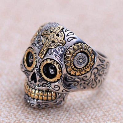 Gothic Carved Sterling Rings