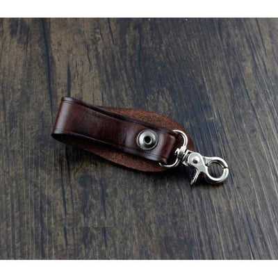Handmade Leather Belt Key Holder-Wallets-Rear Tone