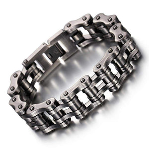 23cm Heavy Wide Bike Chain Men's Bracelet