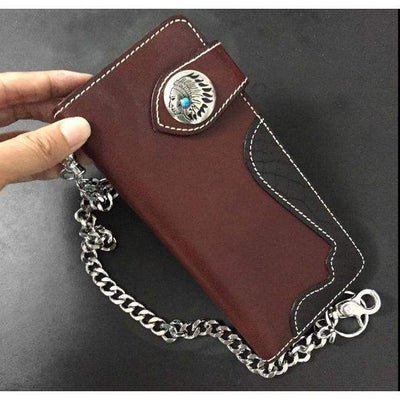 Indian Concho-Biker Wallets-Two Tone-Rear Tone
