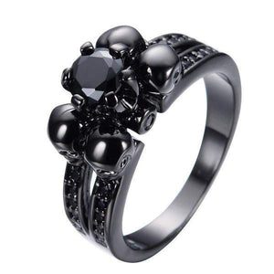 Cubic Zircon Skull Engagement Ring