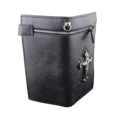 Large Skulls Cross-Biker Wallets-Rear Tone