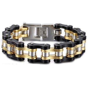 Steel Motorcycle Chain Link Bracelet