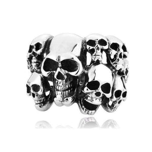Multi Skull Stainless Ring