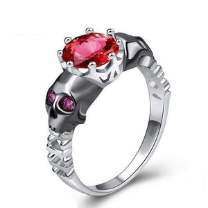 Cubic Zirconia Skull Engagement Ring