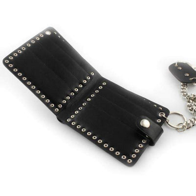 Punk Studded-Biker Wallets-Black-Rear Tone
