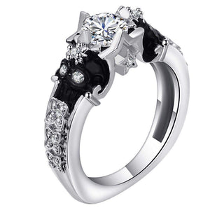 Punk Vintage Skull Engagement Ring