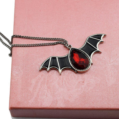 Red Crystal Bat-Pendants-Rear Tone