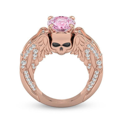 Rose Gold Luxury-Ladies Sull Engagement Ring-6-Rear Tone