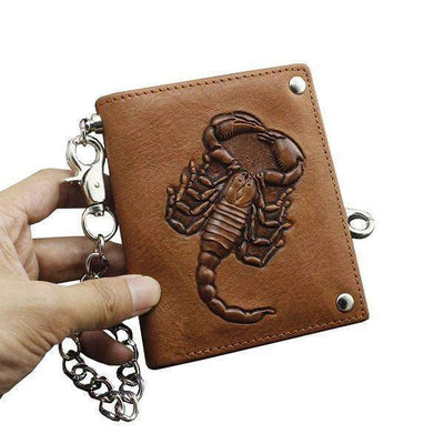 Scorpion-Biker Wallets-Brown-Rear Tone