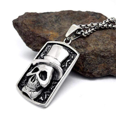 Skeleton Clown Pendant