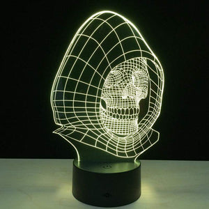3D LED Skull Steel Lamp