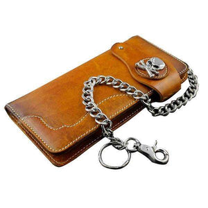 Skull Concho Leather Wallet