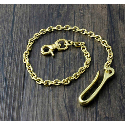 Solid Brass Hook Chain-Wallet Accessories-Rear Tone