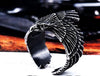 Stainless Eagle-Mens Skull Biker Ring-7-Antique Finish-Rear Tone