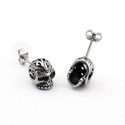 Stone Eyes Skulls earrings