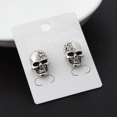 Stone Head Gold Plated earrings