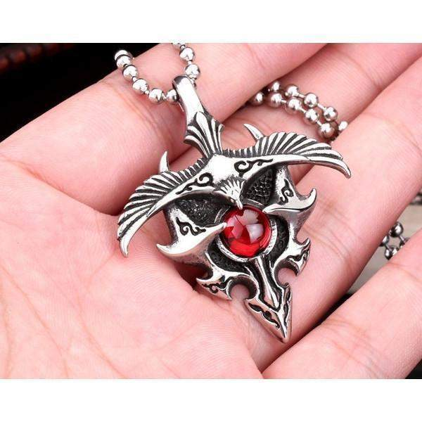 Red Stone Talisman Gothic Pendant