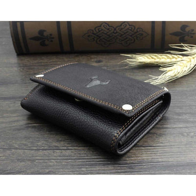 Texas Longhorn-Biker Wallets-Black-Rear Tone
