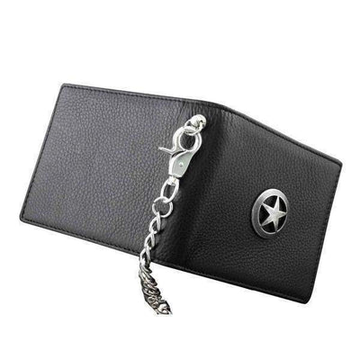 Texas Star Bifold-Biker Wallets-Black-Rear Tone