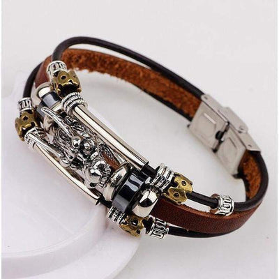 Tibetan Silver and Leather Vintage Bracelets