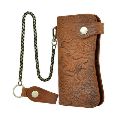 Tiger Carved-Wallets-Rear Tone