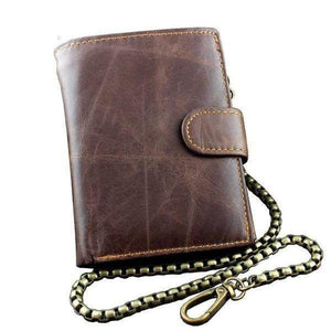 Traditional Leather Biker Wallet