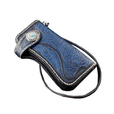 Western-Biker Wallets-Blue-Rear Tone