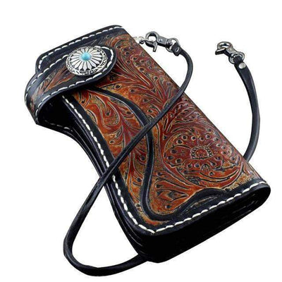 Western-Biker Wallets-Brown-Rear Tone