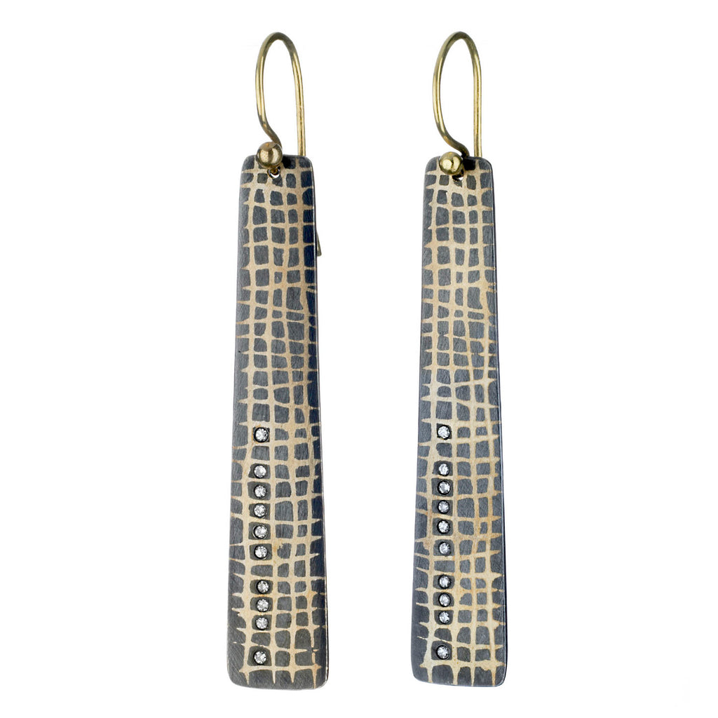scribble grid earrings