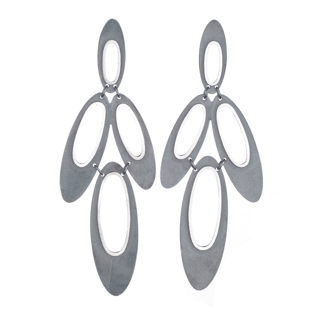 Oval Eclipse Outline Earrings