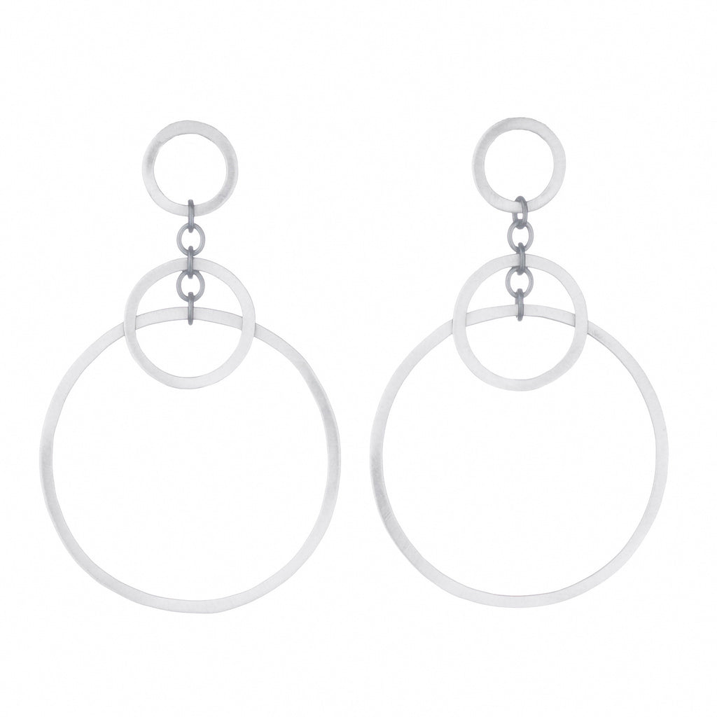 medium circle bunches earrings