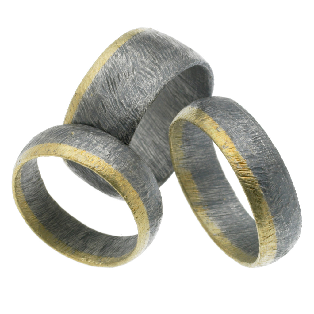 carved horizontal stripe rings