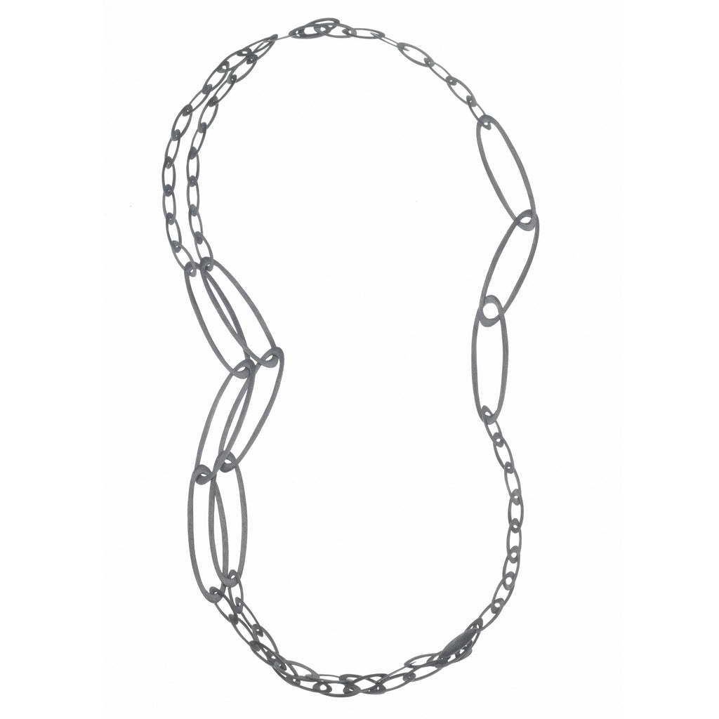 three-strand carved necklace