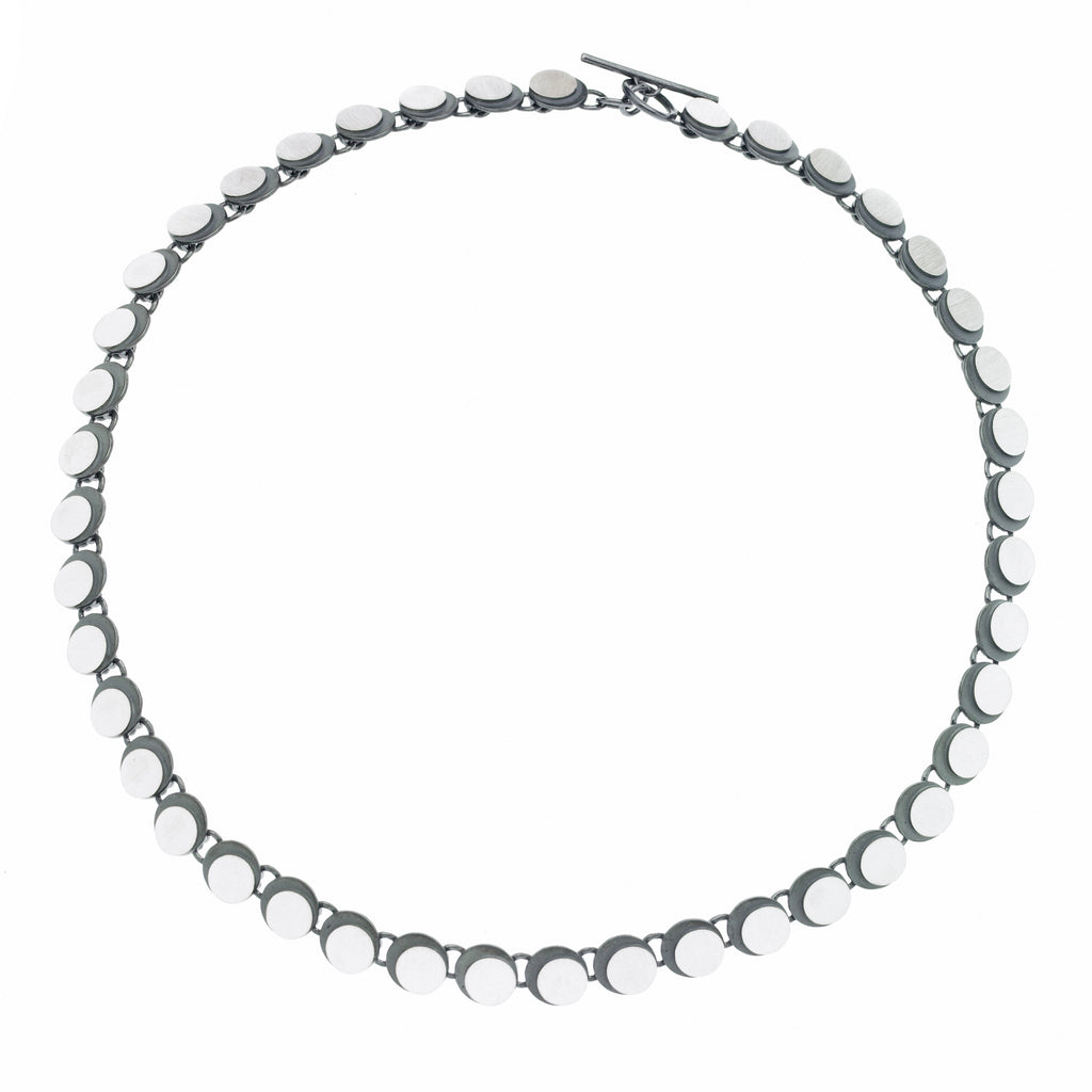 eclipse circle link necklace