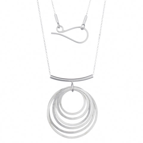 circle ripple necklace