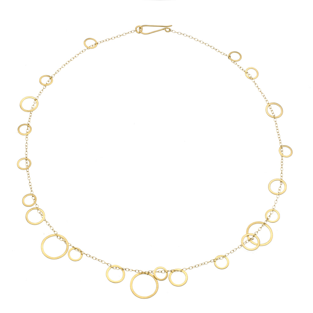 Delicate 18k Circle Bunches Necklace