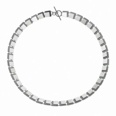 eclipse square link necklace