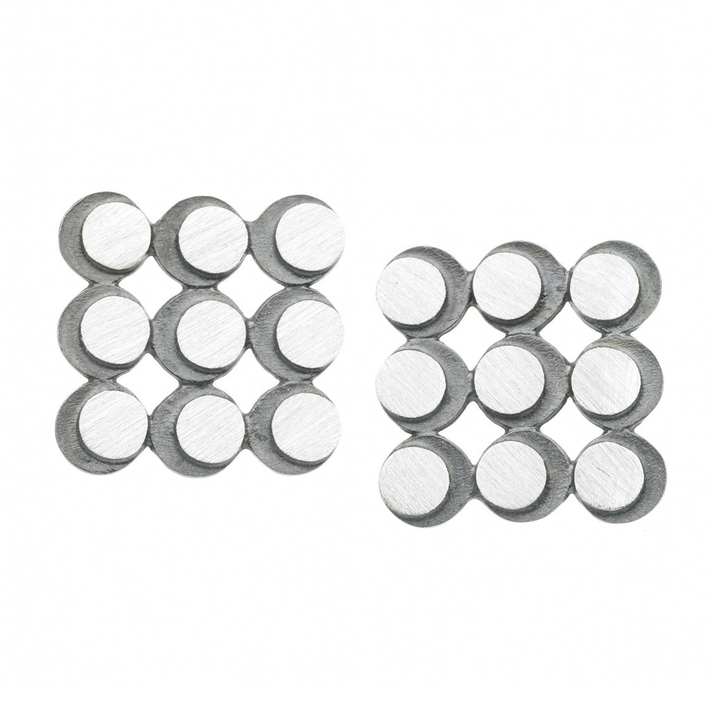 eclipse 3x3 circle grid earrings