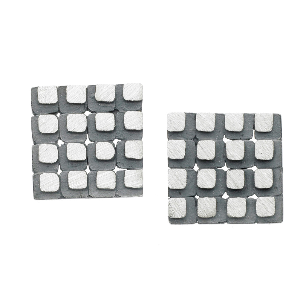 eclipse 4x4 square grid earrings