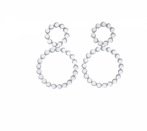 eclipse double circle wreath earrings