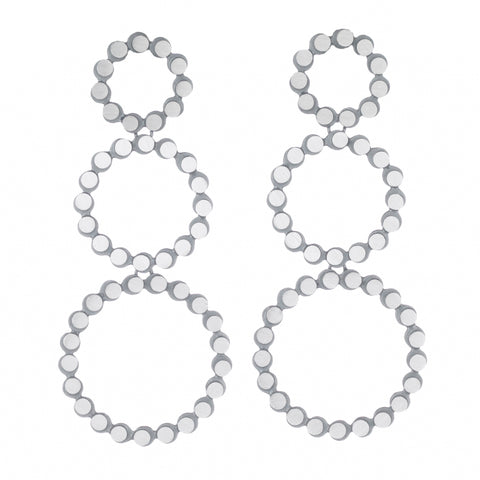 eclipse triple circle wreath earrings