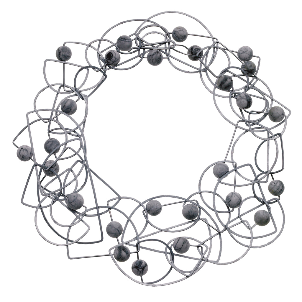 long half-circle tangle necklace