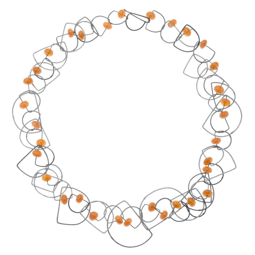 tangle half-circle necklace