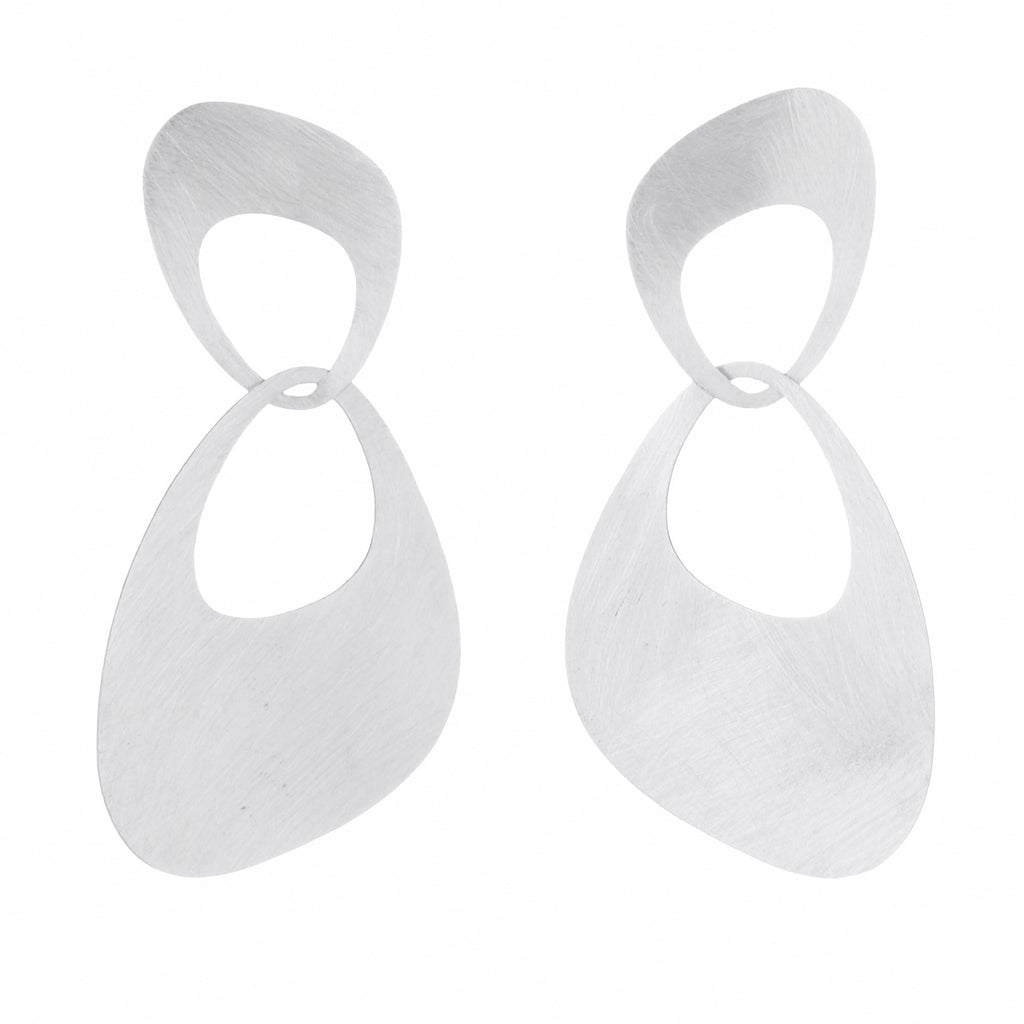interlocking large petal earrings